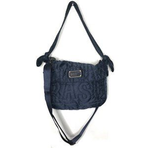 Marc Jacobs Workwear Quilted Messenger Bag Blue